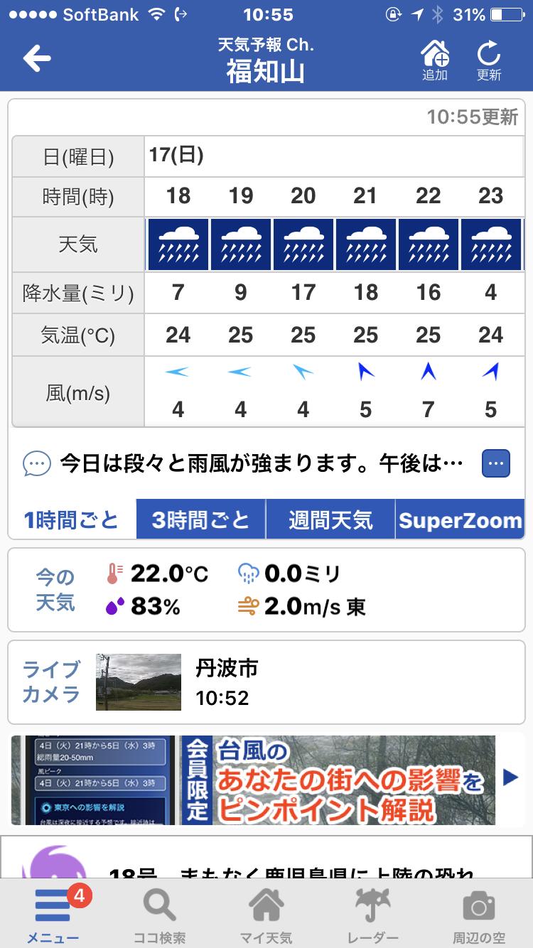 時間ごと 天気